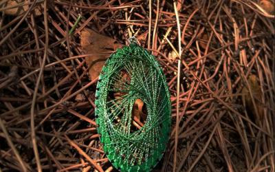 Rope'n'roll ile ip sanatı (string art) tablo ve takı yapımı